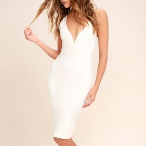 Lulu's Gracefully Yours White Dress